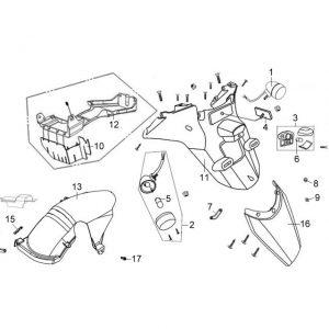 F17-Stražnji blatobran