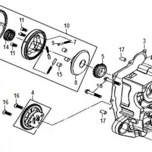 E04-Blok motora desni/pumpa ulja