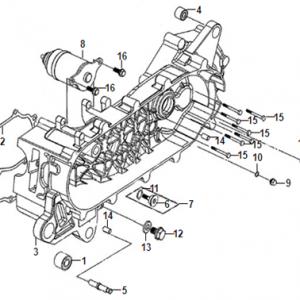 E12-Blok motora lijevi/anlaser