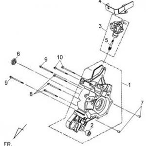 E02-Blok motora desni/uljna pumpa