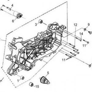 E08-Blok motora lijevi/anlaser