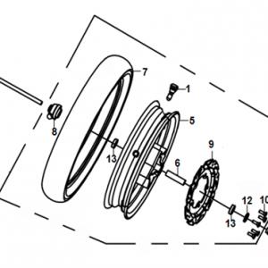 F08-Prednji kotač