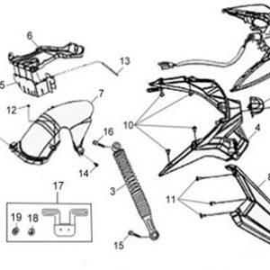 F18-Stražnji amortizer/stražnje svijetlo