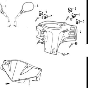 F05-Maska upravljača/retrovizori